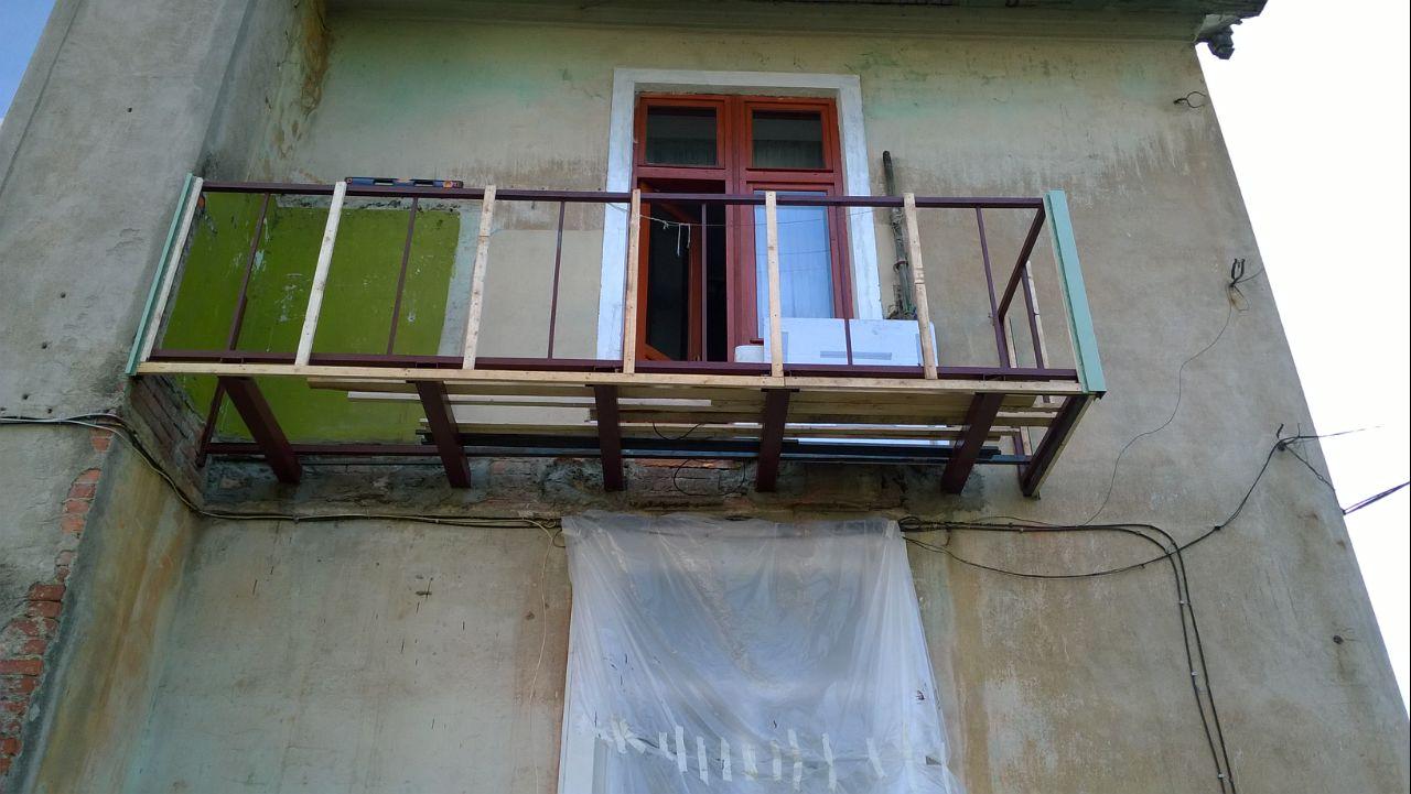востановление плиты балкона
