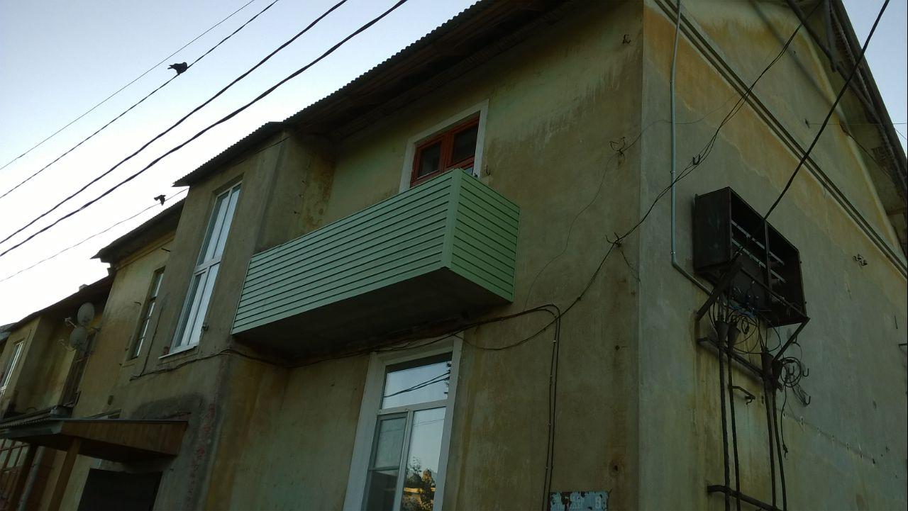 отделка балкона внешняя