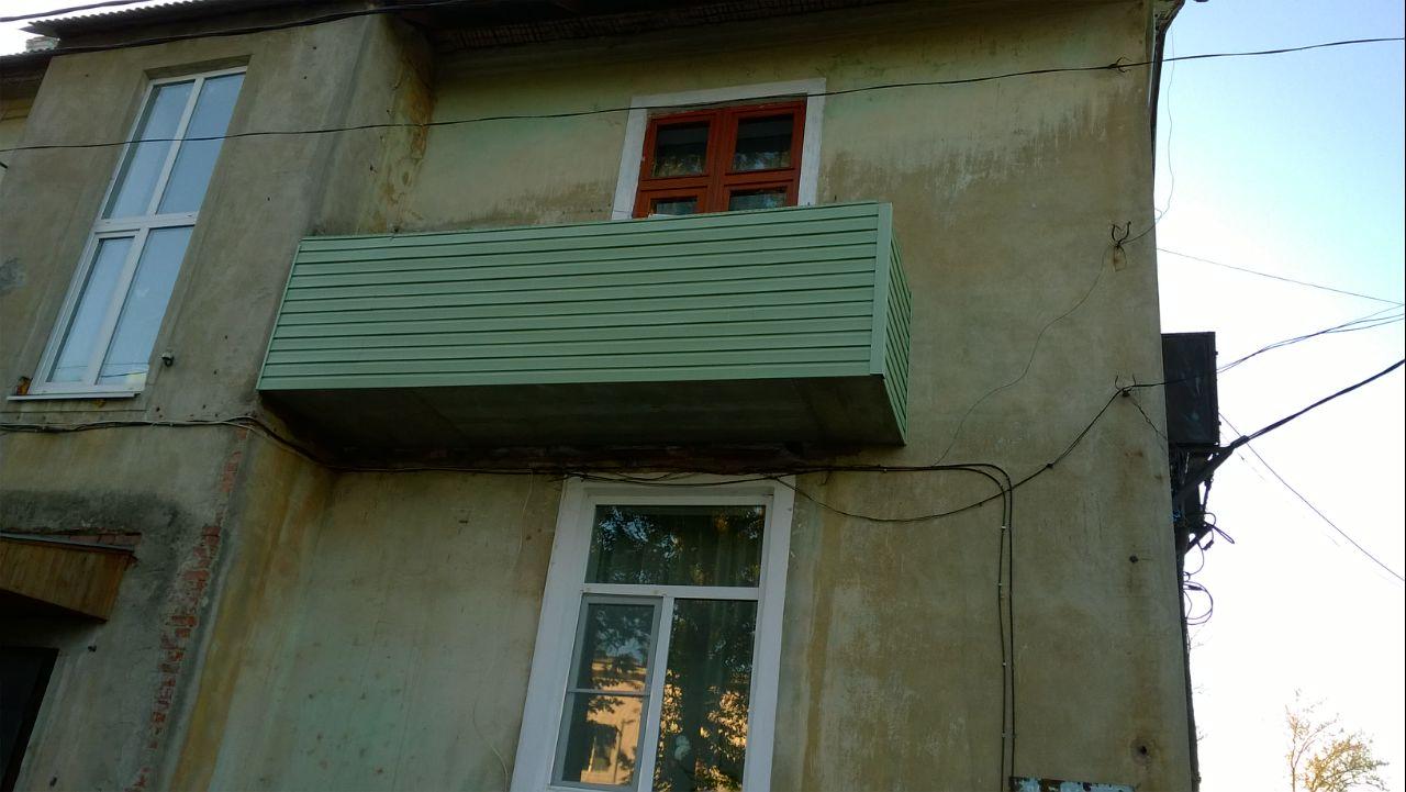 обшивка балкона внешняя